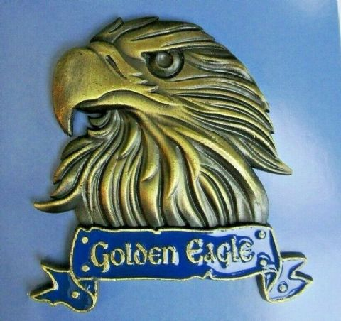 GOLDEN EAGLE FRIDGE MAGNET HEAVY DUTY METAL 3D MAGNET IN ANTIQUE GOLD STYLE